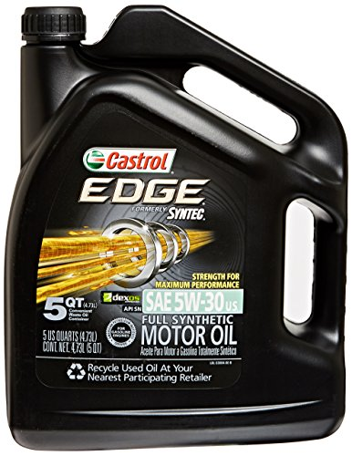 Castrol 03084 EDGE 5W-30 Synthetic Motor Oil - 5 Quart (Full Synthetic Castrol compare prices)