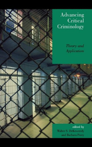 Advancing Critical Criminology Theory and Application Critical Perspectives on Crime and Inequality