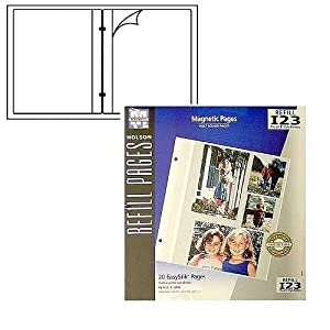 Holson/Burnes EasyStik Magnetic post-bound album refill pages Our price is for 2 pcs - 8x10