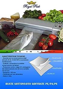 ROYAL PACK Rotoli per sottovuoto goffrati per alimenti 30x600 confezione da 2 rotoli
