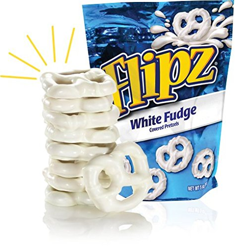 Flipz White Fudge Pretzels, 5oz (Pack of 4) (Pretzels White Chocolate compare prices)