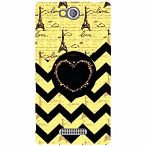 Sony Xperia C Back Cover - Triangled Print Designer Cases