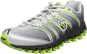 K-Swiss Men's Tubes Run 100 Running Shoe,Black Fade/Bright Green,11 M US