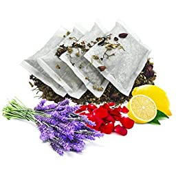 Sleep Bath Tea Soak ~ 100% Botanical Blend of Chamomile, Lavender, Lemon Balm, and Rose ~ All Natural Bath Tea Bag to Prepare Your Mind & Body for Sleep ~ Get 4 individually wrapped bath tea\'s