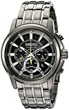 Seiko Men's SSC391 Solar Chrono Analog Display Japanese Quartz Grey Watch