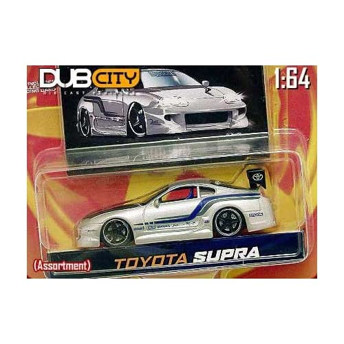 City Import Racer Silver RacingToyota Supra 164 Scale Die Cast Car