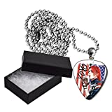 Gerard Way My Chemical Romance Flag Style Metal Guitar Pick Necklace Chain