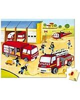Janod - 02954 - Lovely Puzzle - Pompiers - 54 Pièces