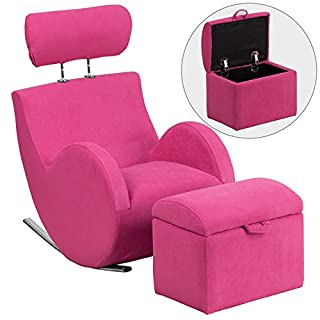 Flash Furniture Pink Fabric Rocking Chair LD-2025-PK-GG