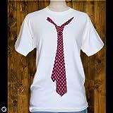 (レッドブロス) REDBROS. ネクタイ 半袖Tシャツ(ホワイト)