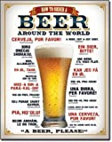 How to Order a Beer Tin Sign , 13x16