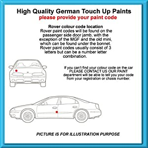 Rover High Quality German Car Touch Up Paint 30Ml Bu37 Trafalgar Blue From 61 - 72 by MACPACARPARTS
