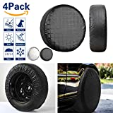 "VIEFIN Set of 4 Wheel Tire Covers, Waterproof UV Sun RV Trailer Tire Protectors, Fit 27"" to 32"" Truck Camper Van Auto Car Tires Diameter"