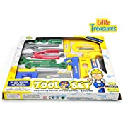 Deluxe Tool Set From Little Treasures Laugh & Learn Kids Fixer Man Tools 22 Piece Pretend Play Toy Set
