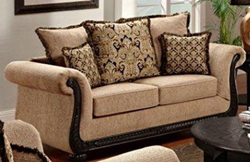 Chelsea Home Furniture Lily Loveseat, Delray Taupe