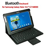 "Samsung Galaxy Note 10.1"" GT-N8000 Wireless Bluetooth Leather Case Keyboard"