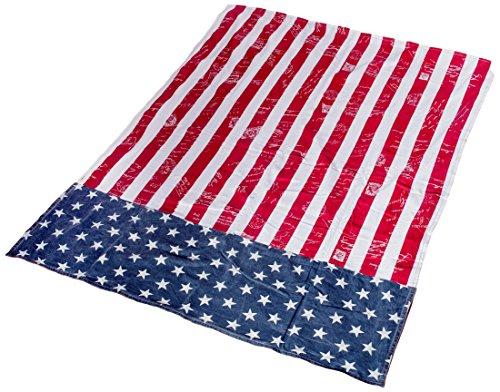 FLA-09 USA Wendedecke Flagge Amerika, Plaid, Decke / Stranddecke