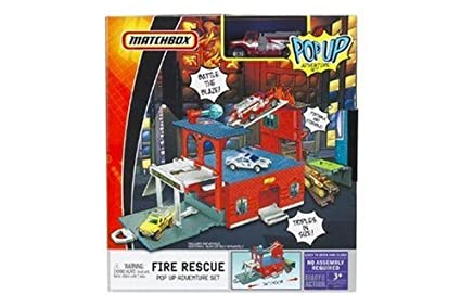 Matchbox Fire Rescue Pop Up Playset
