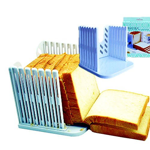 EasyKan Kitchen Food Slicer,Toast Cutter,Bread Slicer&Bread Cutter,Good Choice to Store the Toast (Chinese Bread Maker compare prices)