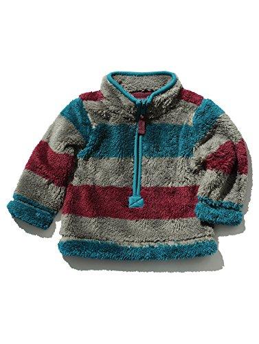 mco-baby-boys-long-sleeve-stripe-pattern-half-zip-funnel-neck-sherpa-fleece-grey-18-24-mnth