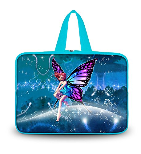 Butterful Fairy 14.1 Laptop Chaste Color Sleeve Soft Case Bag+ + Fa handle For HP Chromebook 14 14 Inch Notebook?14 Sony VAIO/CW/CS PC?Lenovo ThinkPad T430,Sony Vaio E Series 14, 14 HP Resentment M4,HP Pavilion dm4,14 Inch Toshiba Acolyte, Tecra NoteB