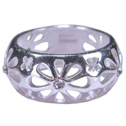 Tomas Sterling Silver Ring - Crystal Daisy - 9