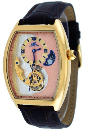 Adee Kaye #AK8024-MG7 Men's Motif 3-D Sun Moon Partial Skeleton Automatic Watch
