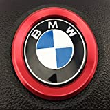 BMW i8 ルック ステアリング アルミ リング (レッド)