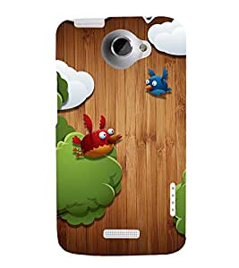 ANIMATED CARTOONISH BIRDS 3D Hard Polycarbonate Designer Back Case Cover for HTC One X :: HTC One XT :: HTC 1X