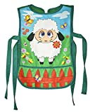 Polyester Hippolyta Gifts Studio Artist Apron Green Red And Blue Farm Sheep