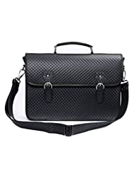Ohm Leather Black Briefcase Bag