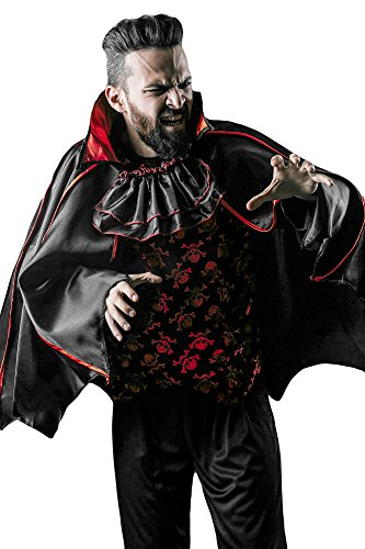[Men's Gothic Vampire Count Dracula King of Night Dress Up & Role Play Halloween Costume (One Size - Fits] (Count Gothic Costumes)