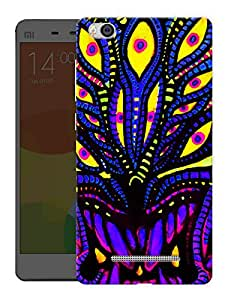 "Humor Gang Trippy Neon Art Printed Designer Mobile Back Cover For ""Xiaomi Redmi Mi4i"" (3D, Matte, Premium Quality Snap On Case)"