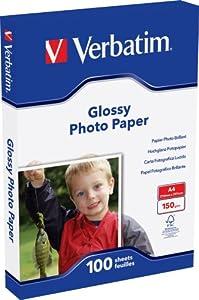 Verbatim Glossy Fotopapier DIN A4 glänzend 100 Blatt für Tintenstrahldrucker