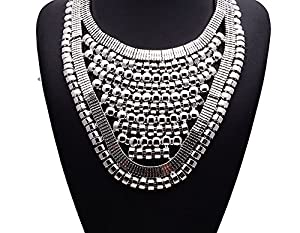 Girl Era Evening Party Best Bling Necklace Cleopatra Charm Necklace(white)