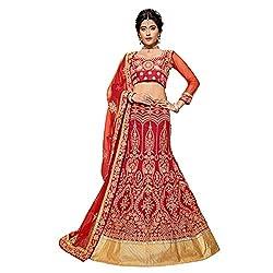 Manvaa Red Colour Banglore Silk Lehenga Choli With Dupptta