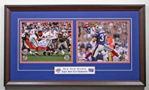 The Play The New York Giants Eli Manning & David Tyree Super Bowl XLII Framed... by Legends Gallery