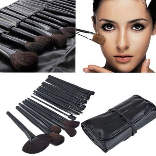 32pcs superior PRO Soft Cosmetic Makeup Brush Set Kit + Pouch Bag Case - 1