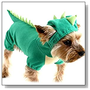 Sunsen Pet Puppy Dog Dinosaur Jumpsuit Pajamas Coat Shirts Jacket Jumper