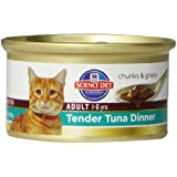 Hill's Science Diet Adult Tender Tuna Dinner Chunks and Gravy Cat Food Can, 2.9-Ounce, 24-Pack