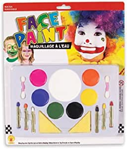 Amazon.com: Large Clown Face Painting Makeup Set: Toys & Games
