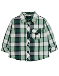 White/Green Check Shirt Green Check