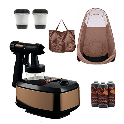 MaxiMist Allure Spray Tanning System with Pop Up Tan Tent Brown