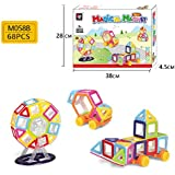 Powerpak Xinbida Magical Magnet-68pcs Magnetic Building Blocks 3D Puzzle Learning Toy For Kids (No.M058B)