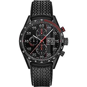 Tag Heuer CAR2A83.FT6033 43mm Automatic Titanium Case Black Rubber Anti-Reflective Sapphire Men's Watch