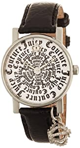 Juicy Couture Women's 1900650 Happy Black Patent Leather Strap Watch