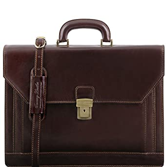 Tuscany Leather - ROMA - Leather briefcase 3 compartments - TL141349