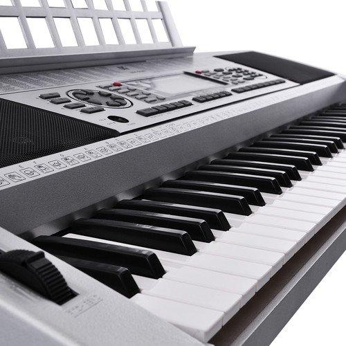 Midi Silver 61 Keys Digital Electronic Paino Keyboard
