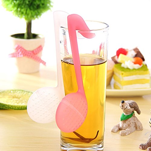 Fashion Note Tea Spoon With Tea Strainer/Stirrer/Infuser/Filter Function-Color Random