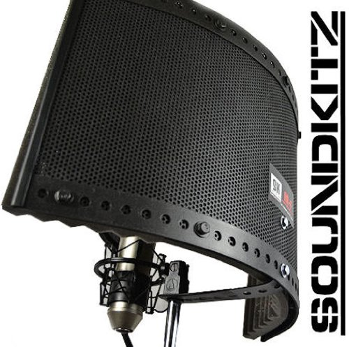 Soundkitz Ae-F Vocal Microphone Isolation Shield - Acoustic Studio Foam Reflection Filter Enclosure
